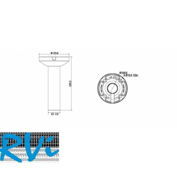 Потолочный кронштейн RVi-380BH