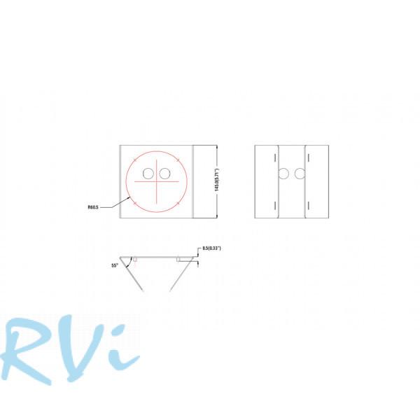 Кронштейн для крепления на столб RVi-BPM1