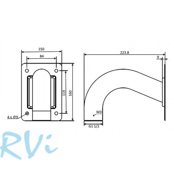 Настенный кронштейн RVi-BW2